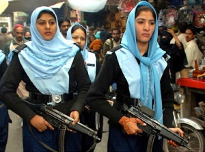 Policewomen in Pakistan