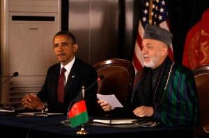 Barack Obama, Hamid Karzai