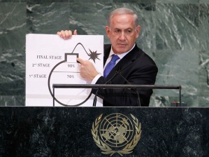 Mr. Netanyahu at the U.N. last September
